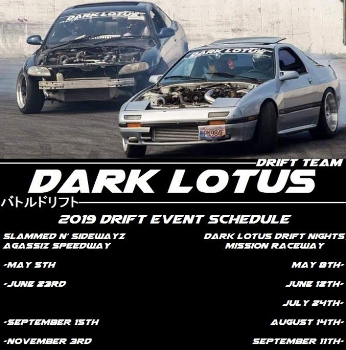Drift Event Schedule